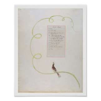 'Ode for Music' design 94 from 'The Poems of Thoma Poster