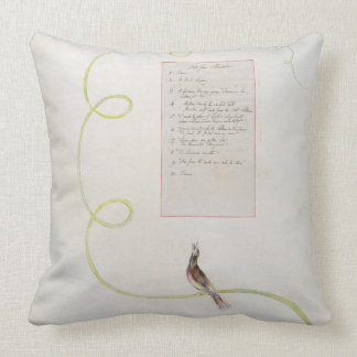 'Ode for Music' design 94 from 'The Poems of Thoma Throw Pillow