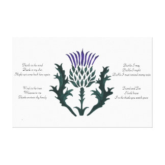 Ode of a Thistle 2 Canvas Print