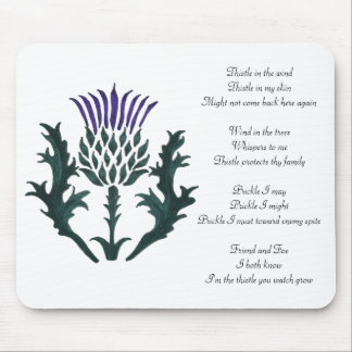 Ode of a Thistle mouse pad