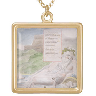 Ode on a Distant Prospect of Eton College, from 'T Square Pendant Necklace
