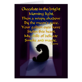 Ode to a Black Cat Greeting Card