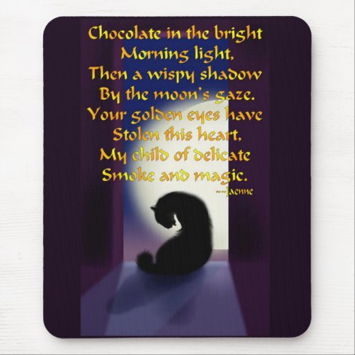 Ode to a Black Cat Mouse Pad