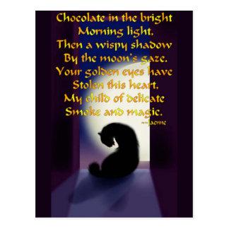 Ode to a Black Cat Postcard