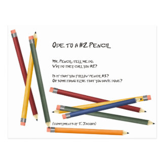 Ode to a No 2 Pencil Postcard