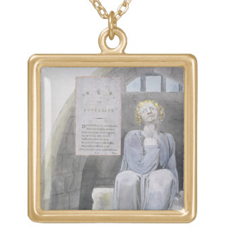 Ode to Adversity, design 37 from 'The Poems of Tho Square Pendant Necklace