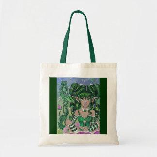 """Ode to Green Bear"" fairy art TOTE BAG"