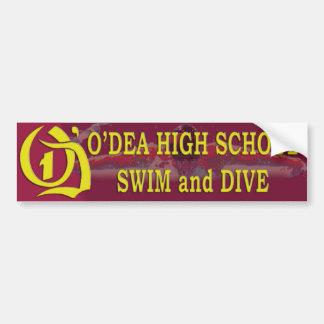 O'Dea Swim and Dive Bumper Sticker Version 2