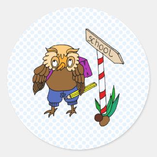 Odel Owl Classic Round Sticker