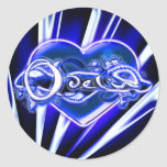 Odelia Round Sticker