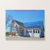 Odell Illinois route 66. Christmas Greetings Jigsaw Puzzle