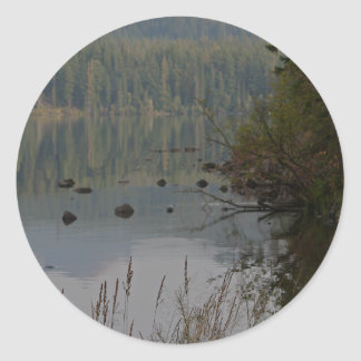 Odell lake, oregon round sticker