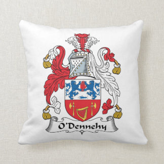 O'Dennehy Family Crest Throw Pillow