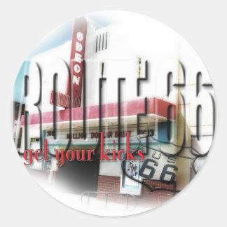 Odeon Movie Theater - Tucumcari, NM - Rt 66 Classic Round Sticker