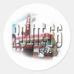 Odeon Movie Theater - Tucumcari, NM - Rt 66 Round Stickers