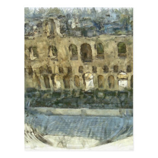 Odeon of Herodes Atticus in Athens Postcard