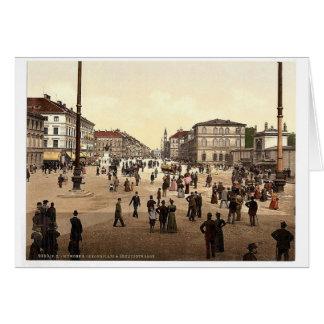 Odeonplatz (es decir Odensplatz) y Ludwigstrasse,  Felicitacion