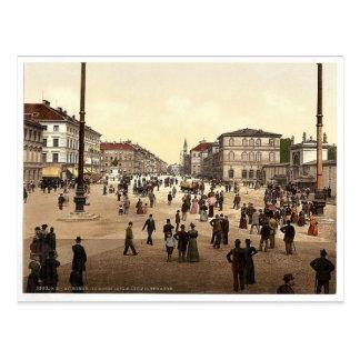 Odeonplatz (es decir Odensplatz) y Ludwigstrasse,  Postal