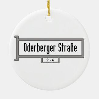 Oderberger Strasse, placa de calle de Berlín Adorno Redondo De Cerámica