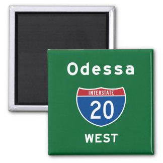 Odessa 20 imán cuadrado