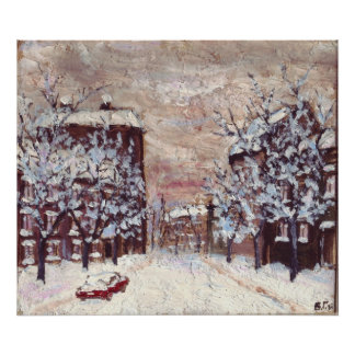 Odessa City in winter art poster