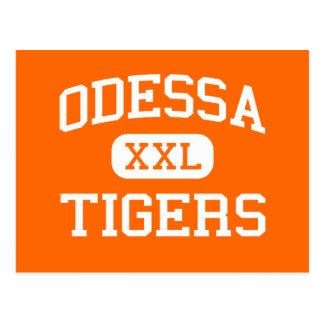 Odessa - Tigers - High School - Odessa Washington Postcard