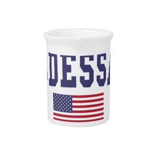 Odessa US Flag Drink Pitcher