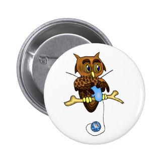 Odetta Owl Pin