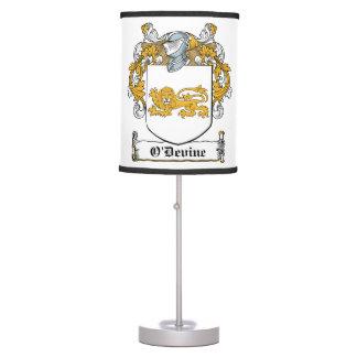 O'Devine Family Crest Lamp
