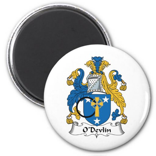 O'Devlin Family Crest 2 Inch Round Magnet