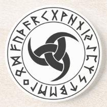 Odhroerir Rune Shield Sandstone Coaster
