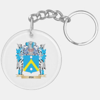 Odi Coat of Arms - Family Crest Double-Sided Round Acrylic Keychain