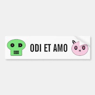 ODI y AMO Pegatina De Parachoque