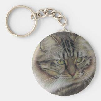 Odie Basic Round Button Keychain