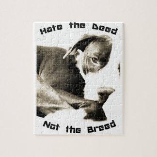 odie el hecho no el pitbull de la raza rompecabezas