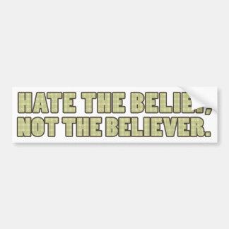 Odie la creencia, no la pegatina para el parachoqu pegatina para auto