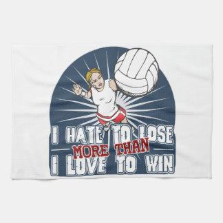 Odie perder voleibol para mujer toalla de cocina