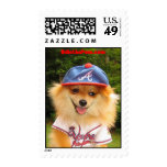 Odie the Braves Fan Postage