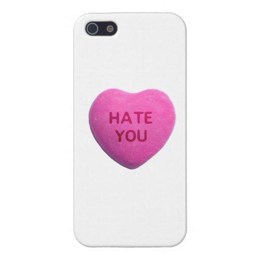 Odíele corazón rosado del caramelo iPhone 5 protector