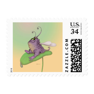 "ODILE ALIEN POSTAGE STAMP Small, 1.8"" x 1.3"""