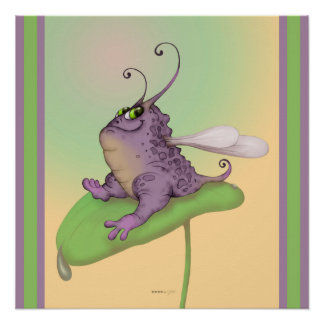 ODILE FUNNY MONSTER ALIEN PERFECT POSTER