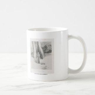 Odilon Redon- A madman in a dismal landscape Classic White Coffee Mug