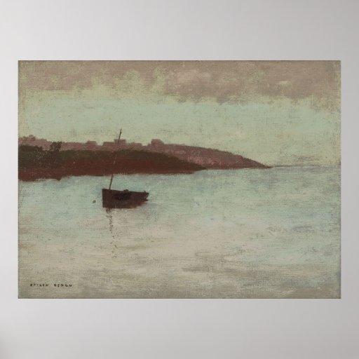 Odilon Redon - barco de pesca Póster