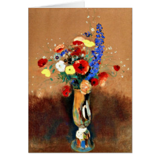 Odilon Redon - Bouquet of Wildflowers in Vase Greeting Card