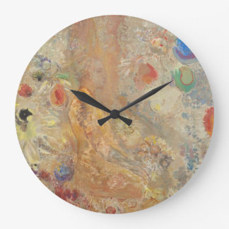 Odilon Redon Buddha in his youth CC0028 Timeless Large Clock