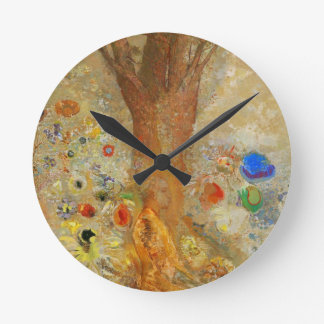 Odilon Redon Buddha In His Youth Round Clock