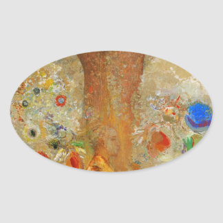 Odilon Redon Buddha In His Youth Oval Sticker