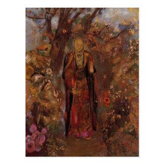 Odilon Redon- Buddha Walking among the Flowers Post Card