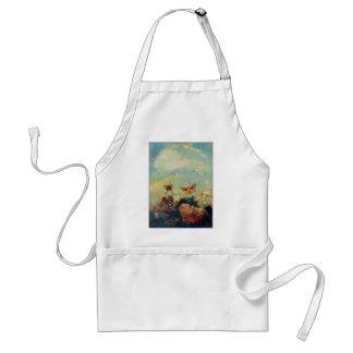 Odilon Redon Butterflies Vintage Symbolism Art Adult Apron