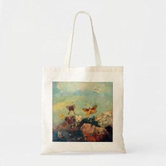 Odilon Redon Butterflies Vintage Symbolism Art Budget Tote Bag